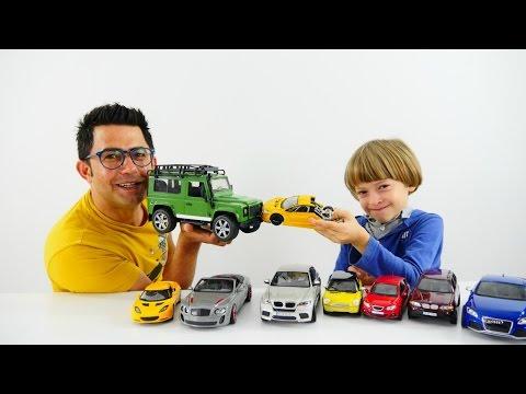 Araba oyunları. Erkek çocuk için harika oyuncak arabalar! Türkçe izle
