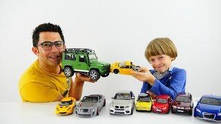 Araba oyunları. Erkek çocuk için harika oyuncak arabalar