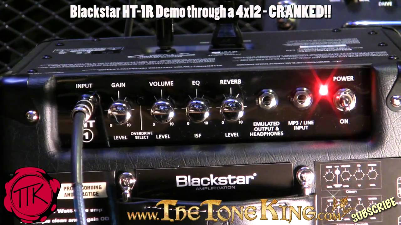 blackstar ht 1r amp thru a 4x12 cranked ht 1 full demo review ht1 ht1r combo amp youtube. Black Bedroom Furniture Sets. Home Design Ideas