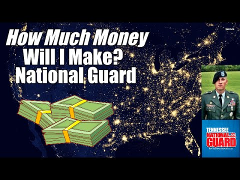 How much money will I make in the Army National Guard?