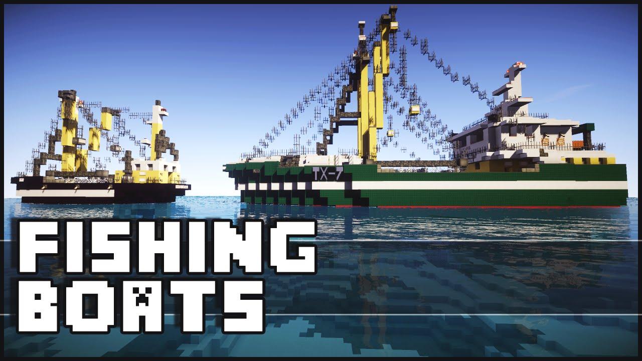 Minecraft - Amazing Fishing Boats - YouTube