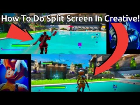How To Do Split Screen In Creative! Fortnite Chapter 2!*It Actually Worked*