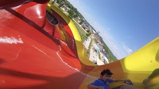 Wonambi-Proslide Tornado Wave | Raging Waves Waterpark IL (NEW 2016!)