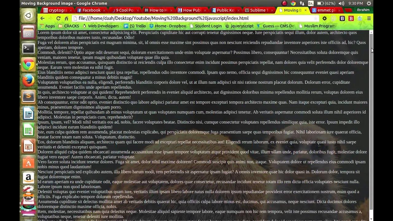 Background image javascript - Moving Background Image In Javascript