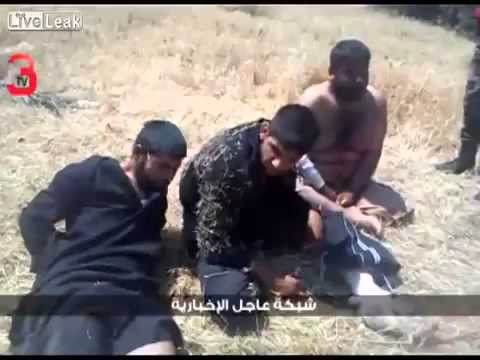18+ not for shock! Dead and Surrendering Terrorists in Al Qusayr, Syria 30 5 13