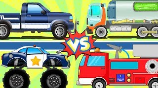 Big Trucks | Street Vehicle Videos | Car Cartoons By Kids Channel