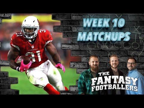 Fantasy Football 2016 - Week 10 Matchups, In-or-Out, #FootClan Friday - Ep. #306