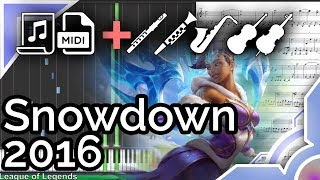Snowdown 2016 login theme - League of Legends (Synthesia Piano Tutorial)