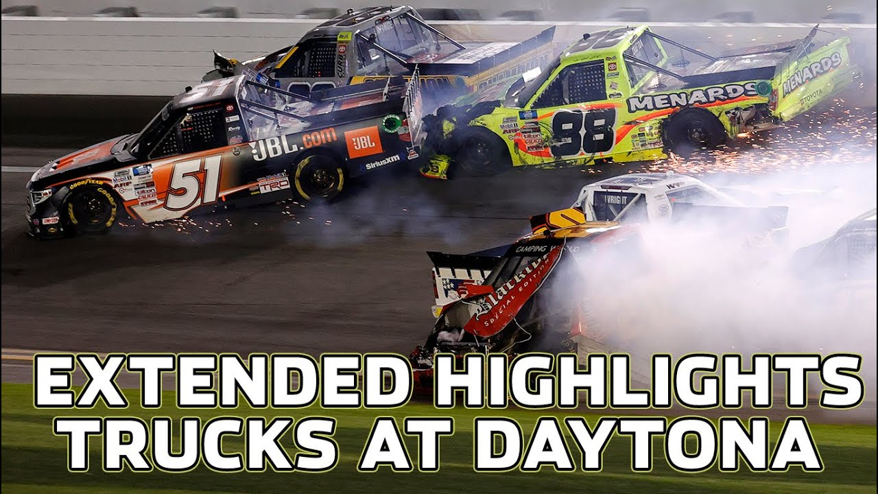 Wild Wrecks in the NextEra Energy 250   Extended Truck Series Highlights from Daytona