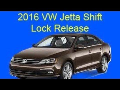 2016 VW Jetta shift lock release
