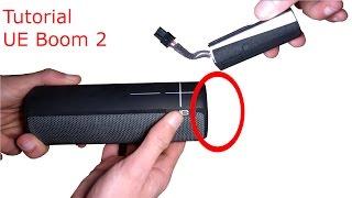 UE Boom 2 Öffnen (how to change battery/open up) [German]
