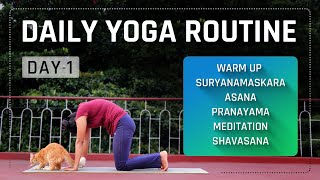 Day 1 of 10 days Daily Yoga Class for Beginners (Follow Along) | Yoga Sessions For Beginners screenshot 5