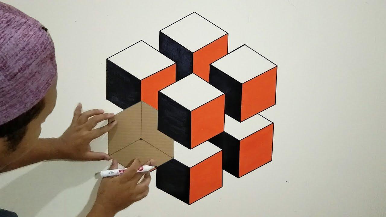 Optical Illusion 3d Wall Painting Cat Dinding 3d Cat Kamar Kreatif Interior Design Youtube