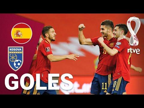 Goles del España 3-1 Kosovo para la Clasificación del Mundial de Catar 2022