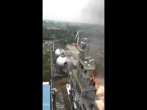 Chinese gas plant explosion ....
