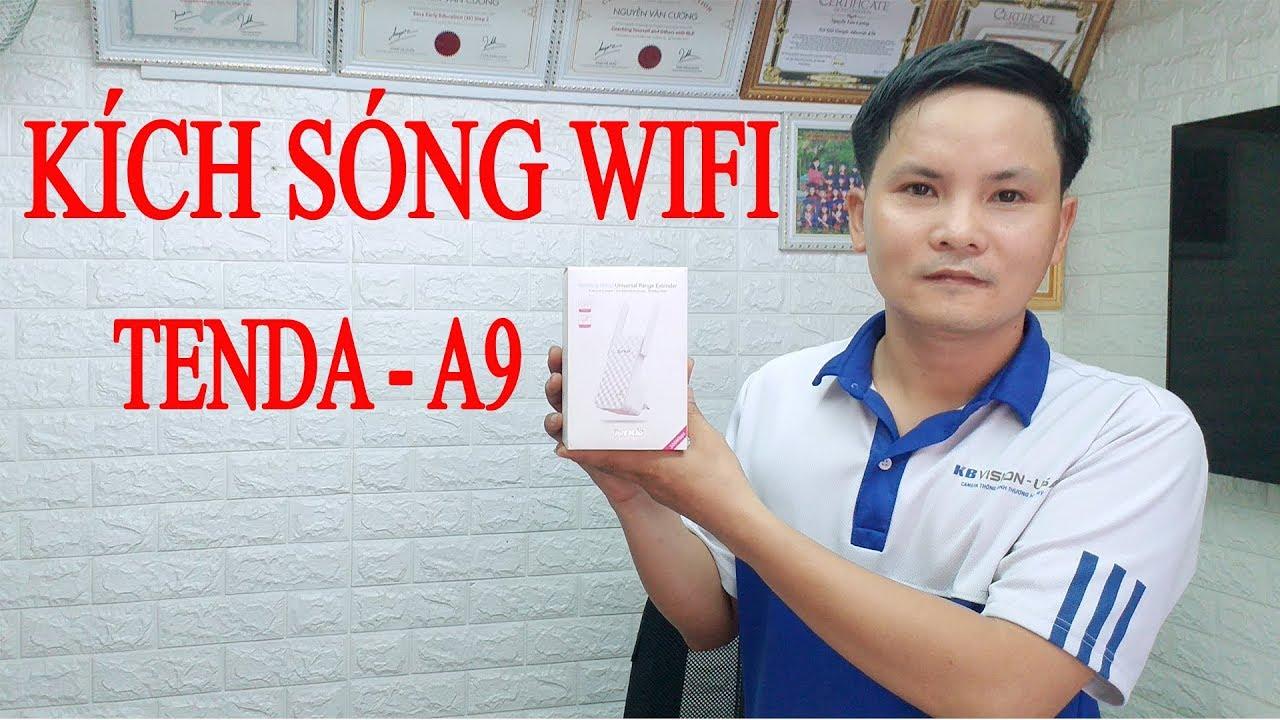 Hướng dẫn cài đặt kích sóng wifi Tenda A9 | Cách cài đặt Tenda A9 | Vi Tính Văn Cường