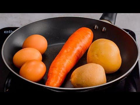 prenez-une-poêle,-2-pommes-de-terre-et-des-œufs-pour-cette-simple-recette-rapide!|-savoureux.tv