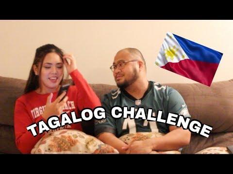 TAGALOG CHALLENGE - Filipino American Couple