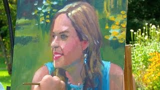 Oil portrait painting of Alison