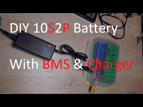 DIY: 10 cell battery pack with BMS and charger (36v, 10S2P)