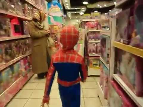 Spiderman in the toy shop - YouTube