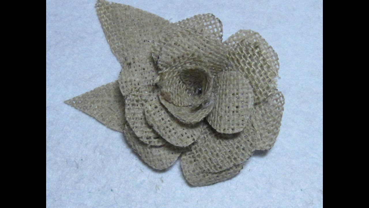 6fb899d78482 #DIY Como hacer una flor de yute o arpillera #DIY How to make a flower jute  or burlap