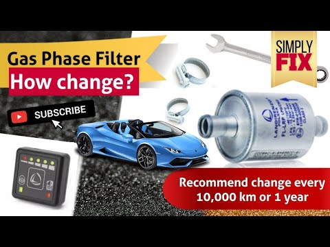 Gas phase filter - How Change? Installation LPG/CNG - SimplyFIX