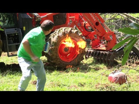 Tractor Tire BLOWOUT And How To Fix!!!