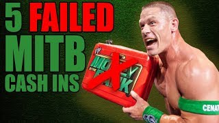 5 WWE Wrestlers Who FAILED to Cash In Their Money In The Bank Briefcase
