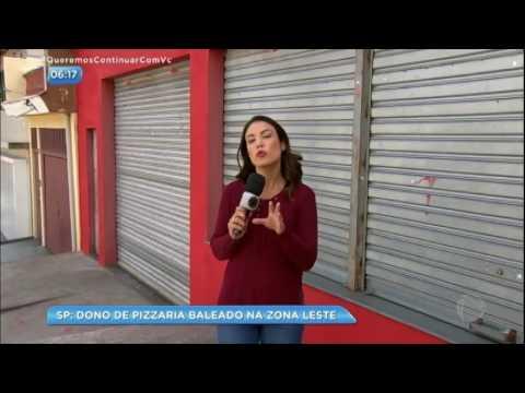Dono de pizzaria é baleado durante arrastão na zona leste de SP
