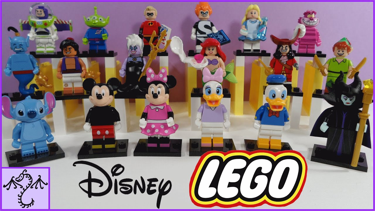 Opening 18 lego disney minifigures blind bags showing bump codes
