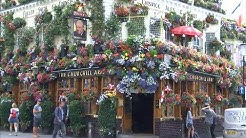 Blooming marvelous pub flowers & social media (UK) - BBC London News - 30th July 2018