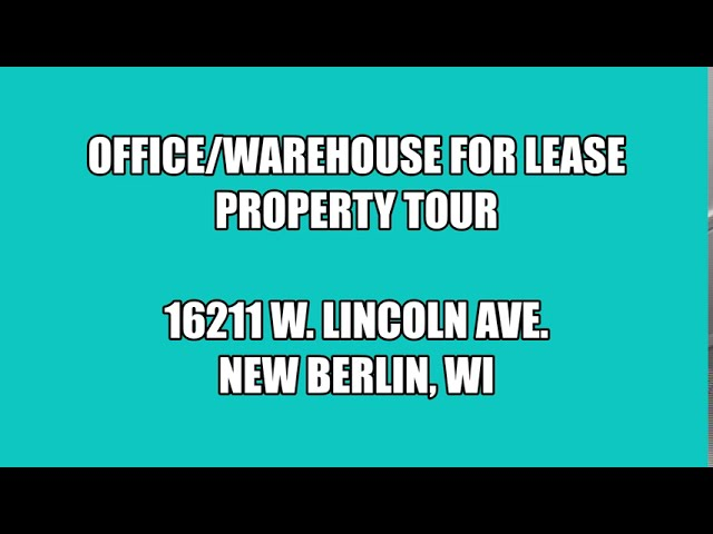 16211 West Lincoln Avenue - New Berlin, Wisconsin (PARADIGM Virtual Tour)