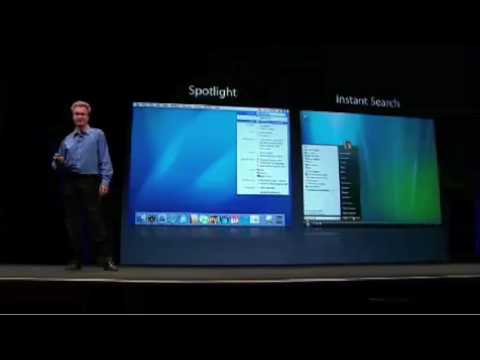 Apple WWDC 2006-Windows Vista Copies Mac OS X - YouTube