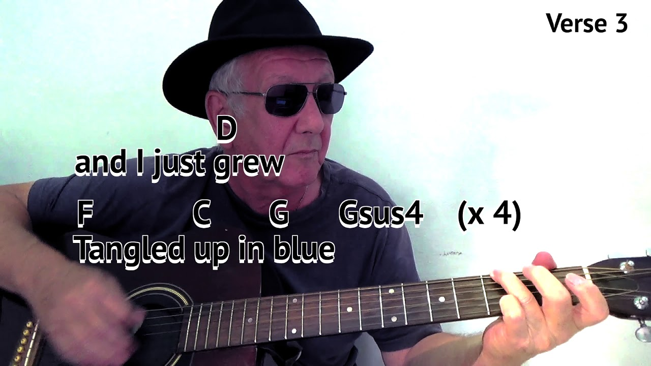 Tangled Up In Blue G Bob Dylan Cover Easy Chord Guitar Lesson