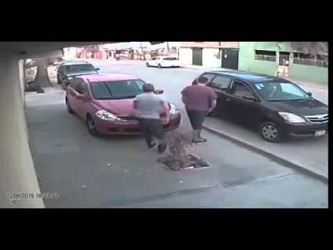 SICARIOS SALEN CORRIENDO CON TODO Y ARMAS