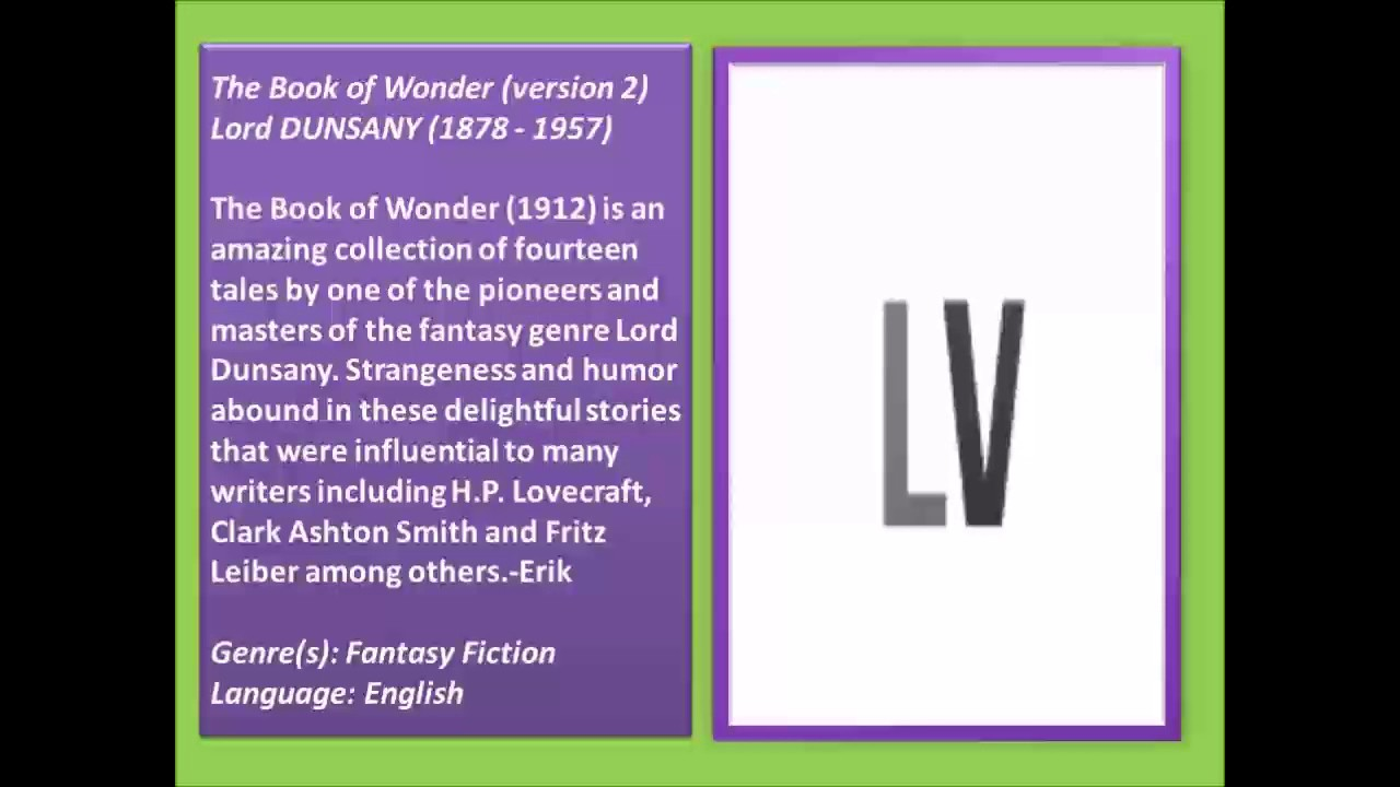the book of wonder version 2 full audiobook - Book Of Colors