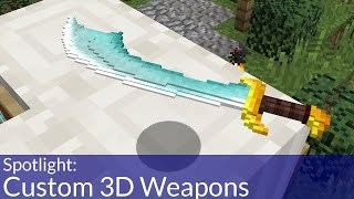 How To Make A Custom 3D Weapons Resource Pack In Minecraft