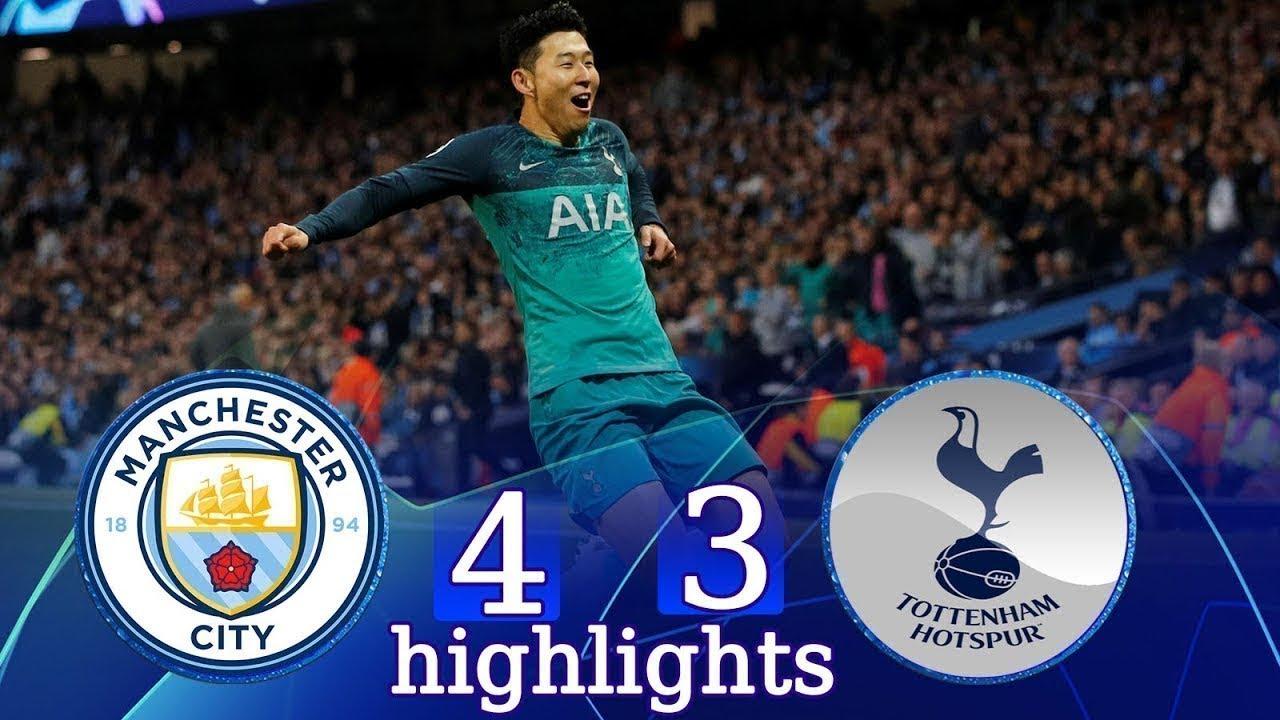 Manchester city vs tottenham 4-3 full highlights