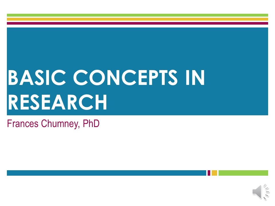 Basic Concepts In Research - YouTube
