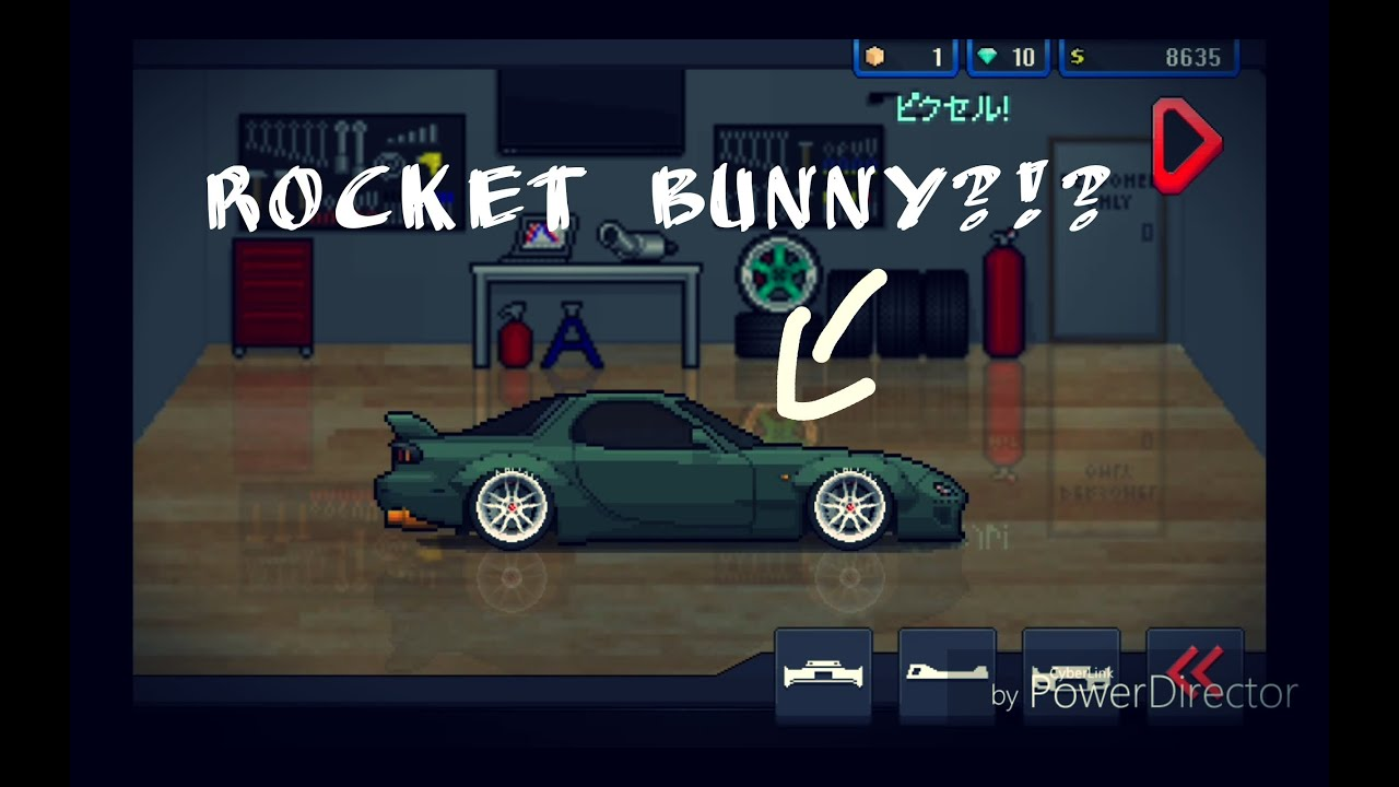 pixel car racer new update 0 5 0 new cars and rocket bunny