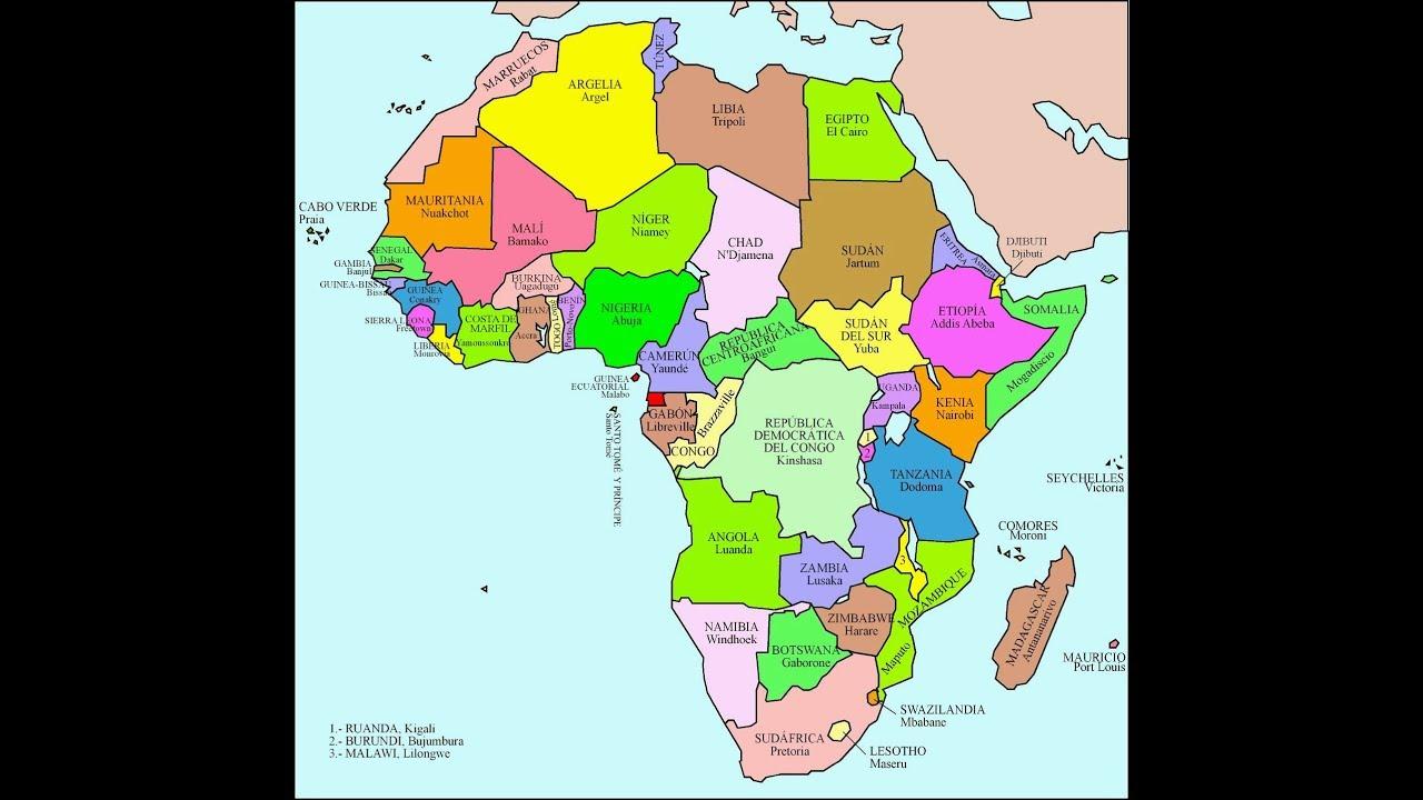 Mapa De Los Paises: Canción De Los Países Y Capitales De África