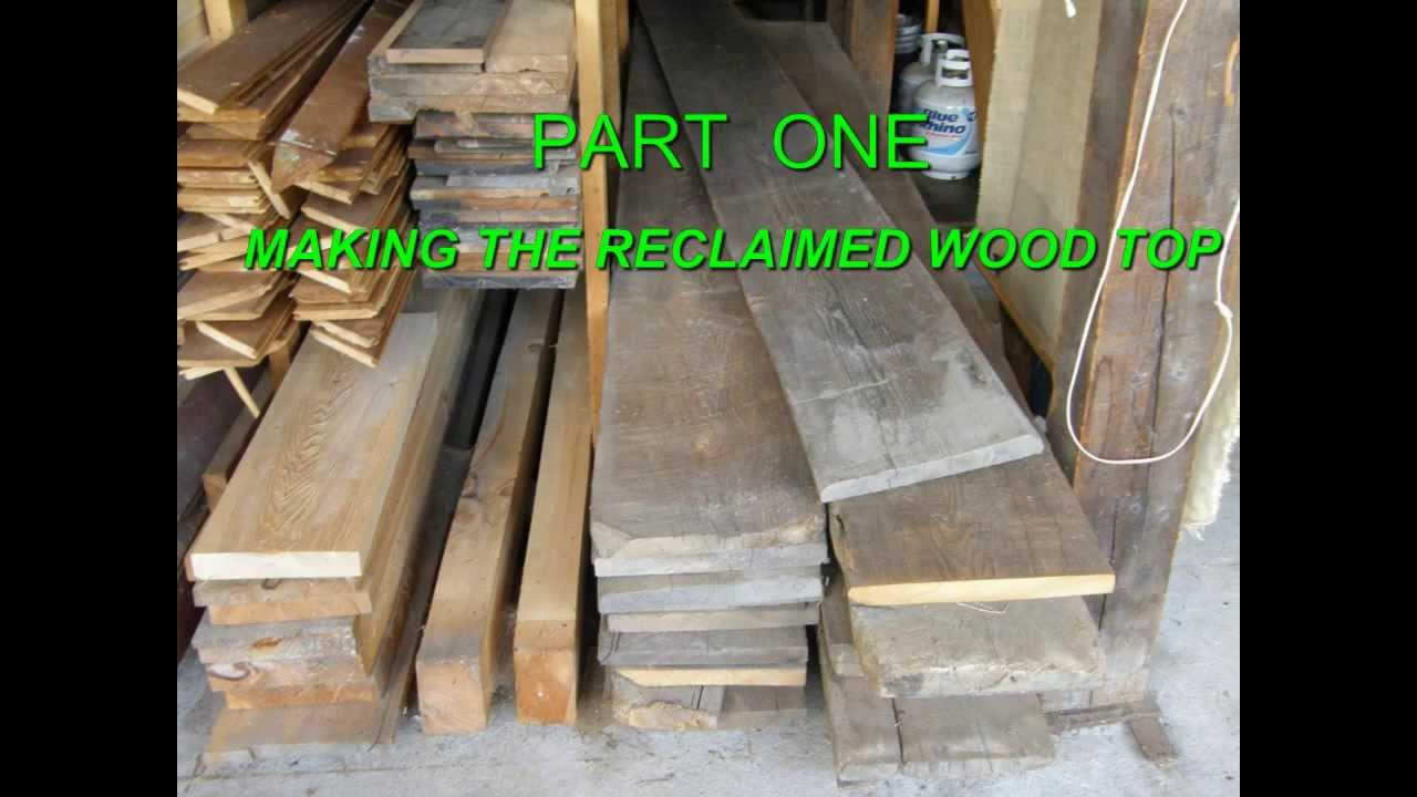 Reclaimed Wood Extension Table (part 1/3) - YouTube
