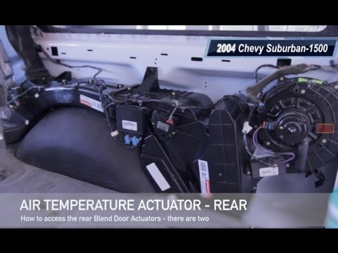 2004 Chevy Suburban Rear Air Temperature Actuator Blend Door Hvac Youtube
