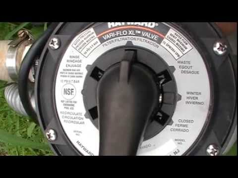 How To Backwash And Clean Above Ground Sand Pool Filter Youtube