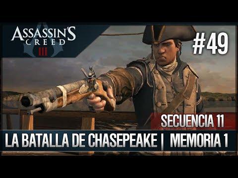 Assassin's Creed 3 - Walkthrough Español - Secuencia ADN 11 - La batalla de Chesapeake [1] [100%]