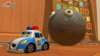 Learning Colors city Vehicle School Bus Fire truck cute Police car and PACMAN Play for kids car toys