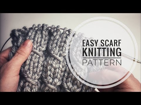 easy scarf knitting patterns - knitting stitches for scarves - knitting pattern for scarf