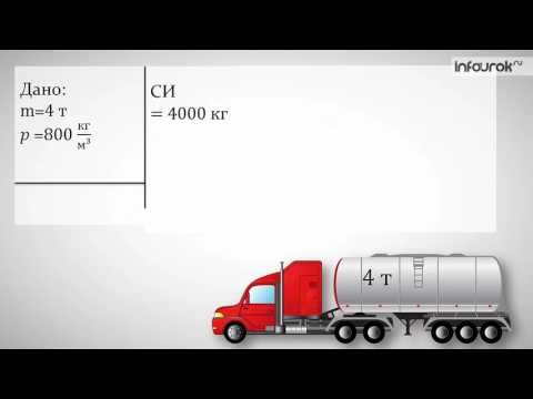 Как посчитать объем через массу