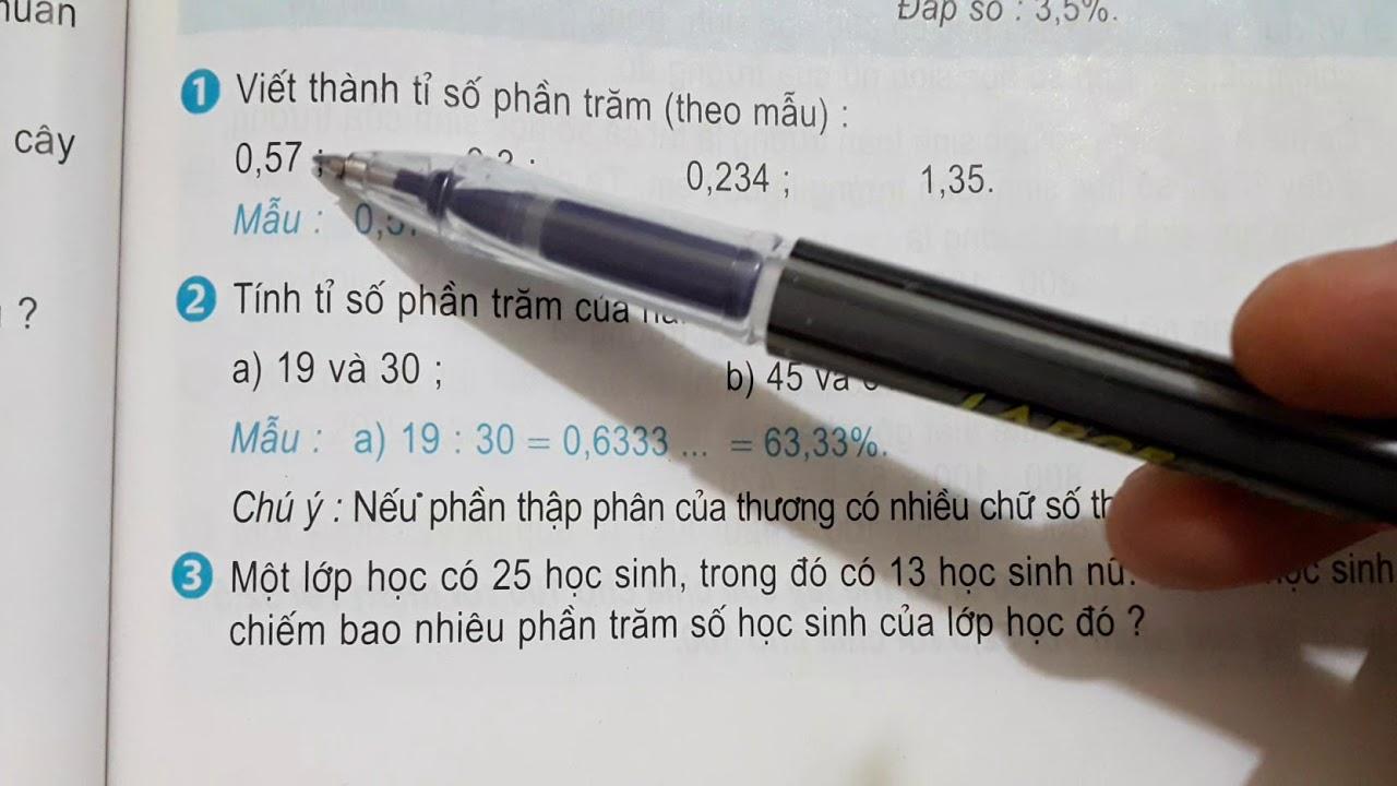 [Toán lớp 5] Giải toán về tỉ số phần trăm (trang 75) | THẦY THÙY